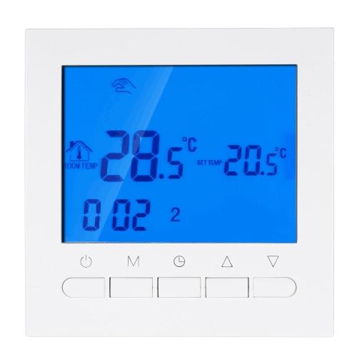Termostato programable con función Wifi Termostato de calefacción eléctrica Controlador de temperatura inteligente WIFI 16A 200 ~ 240V Ahorro de energía con pantalla LCD