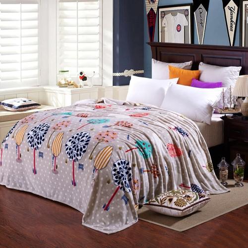 Flannel Polar-fleece Одеяло из высококачественного полиэфирного волокна Мягкое и теплое 200 г / ㎡
