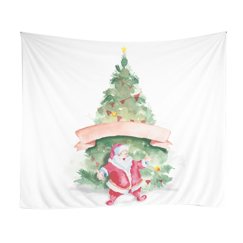 150 * 130cm Christmas Printed Art Tapestry Soft Polyester Wall Hanging Tapestry Christmas Decorations for Living Room Bedroom