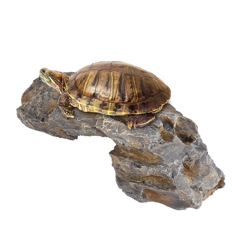 Imitation Artificial Sunshine Platform Aquarium Fish Tank Decoration Decorative Ornament Artwork Eco-friendly Resin Rock Hiding Playing for Lizard Scorpion Amphibian Reptiles Animals Pets