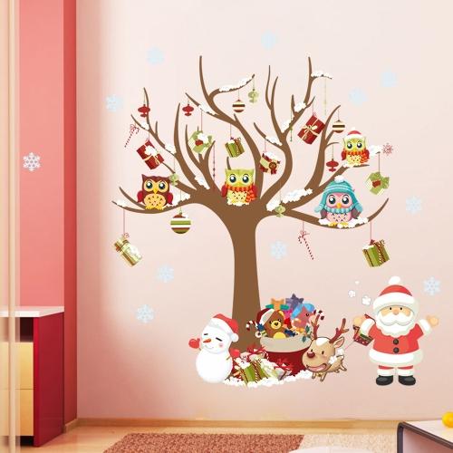Рождественские обои Стеклянная пилка и палка для гостиной Спальня Детский дом Декаль ванной DIY Art Decor Съемный стикер стены