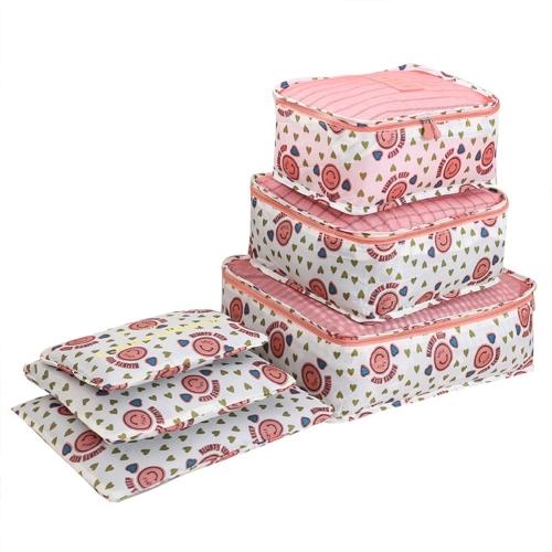 Организатор багажа 6PCS Водостойкая сумка для ткани Нижнее белье Шкаф для чемоданов Упаковка пакета для упаковки Сортировка для поездки по командировкам