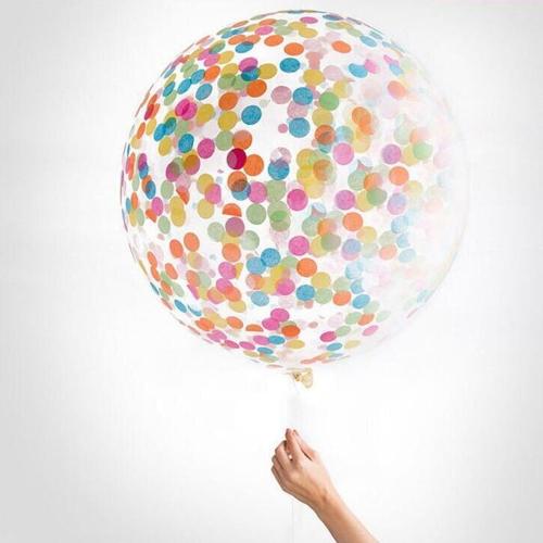 """12 """"Конфетти воздушный шар прозрачные латексные шары со звездой Multicolor Confettis Crepe Бумага для свадебной вечеринки День рождения Хэллоуин декорации с красочными крепированными документами"""