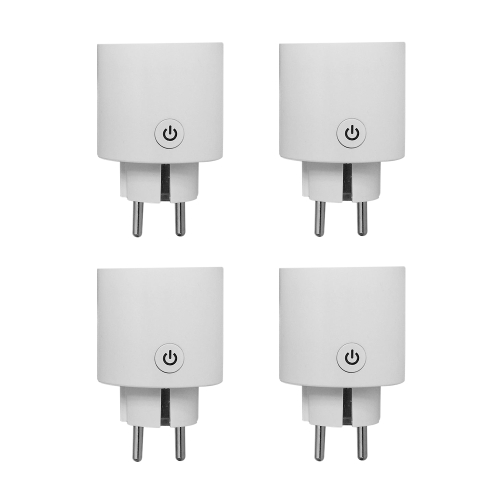 4Pack Smart Wi-Fi Mini Outlet Plug Switch работает с Echo Alexa Remote Control EU Plug