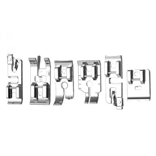 Профессиональная швейная машина для швейных машин 16шт. Комплект ножек для ногтей Hem Foot Аксессуары для запасных частей с пластиковой коробкой для певицы Feiyue Janome Brother