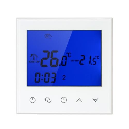 Wifi Programmierbare Thermostat Wifi Wasser Heizung Smart WIFI Temperaturregler 3A 200 ~ 230 V mit Hintergrundbeleuchtung LCD Touchscreen