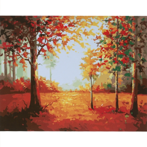 Rahmenlose DIY Digital Ölgemälde 16 * 20 '' Maple Grove Handbemalte Baumwolle Leinwand Malen Nach Anzahl Kit Home Office Wandkunst Gemälde Decor
