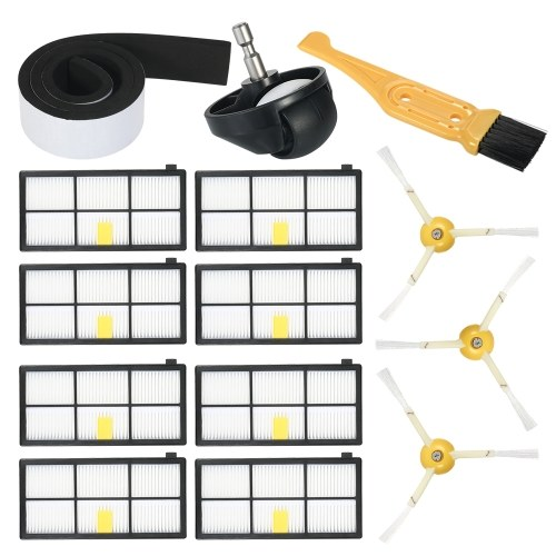 Комплект из 14 комплектов запасных частей для iRobot Roomba 800 и 900 Series 805 860 861 864 866 870 880 890 891 894 960 961 964 966 980 Пылесос - боковая кисть + фильтр HEPA + бампер + литейщик