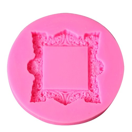 DIY No Stick Cake Photo Frame Mold Chocolate Fondant Decorating Tool Силиконовая выпечка Sugarcraft Gumpaste Molds