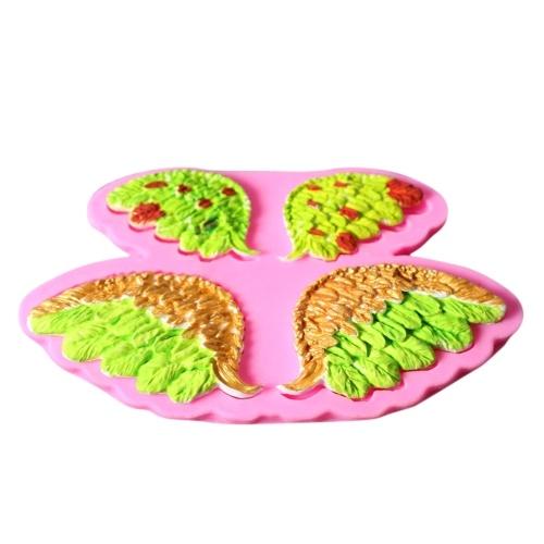 3D Baby Angel Wing Силиконовый торт для украшения формы Candy Fondant Украшение шоколада DIY Формы для выпечки Sugarcraft