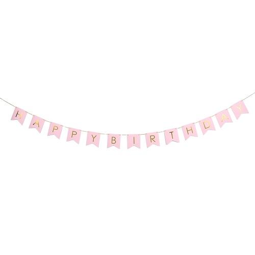 С днем рождения Бумажные флаги Баннер с 3,5 м / 11,5 футов длинным шнуром