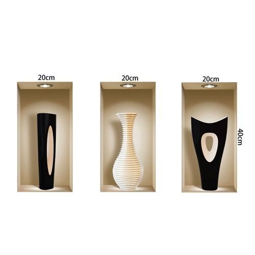 Набор из 3-х волшебных 3D-вазонов-муляжей Съемные наклейки для настенного рисунка наклейки для гостиной Спальня-диван DIY Home Decor