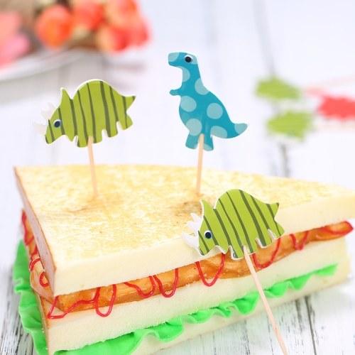 24 шт. Прекрасный торт динозавров Topper