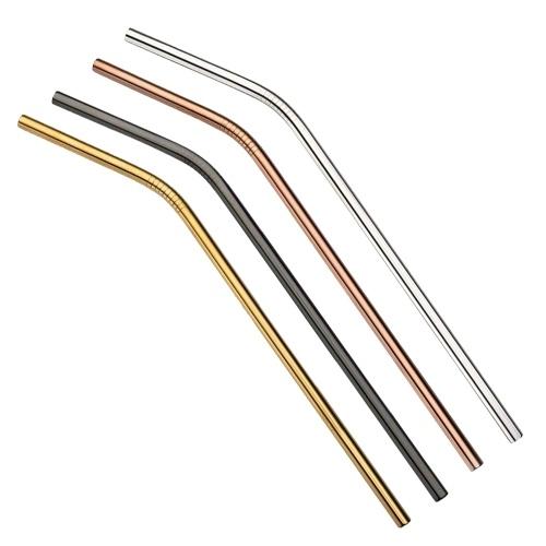 4pcs Multicolor Reusable Stainless Steel Straws