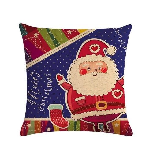 1Pc Santa Claus Christmas Decorations funda de almohada