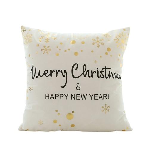 Weihnachtsgoldfolie gedruckt Kissenbezug