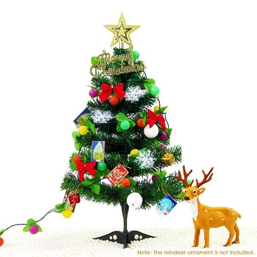 DIY 60cm Tabletop Christmas Tree PVC Artificial Christmas Tree Sales Online #1 - Tomtop