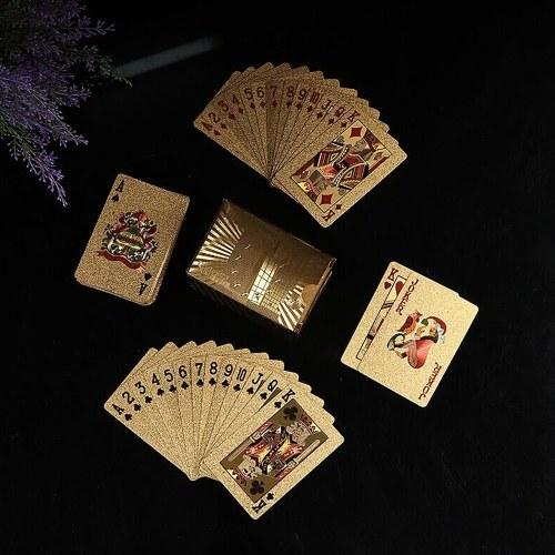 Cartões de jogo pretos impermeáveis do póquer plástico do PVC da qualidade