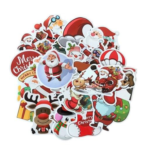 25pcs С Рождеством 3D Carton Bubble Sticker