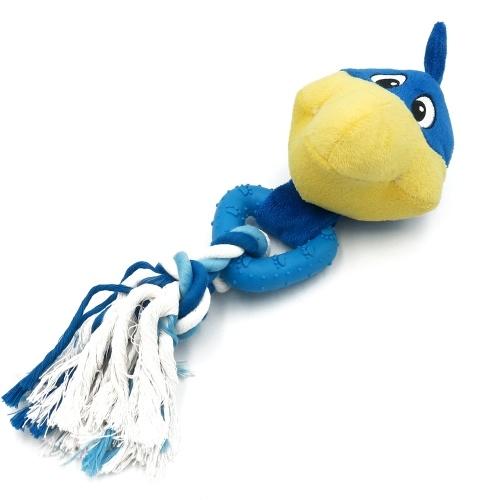 Perro Squeak Chew Ball Juguete Animal suave juguete de peluche Perro Chew Toy