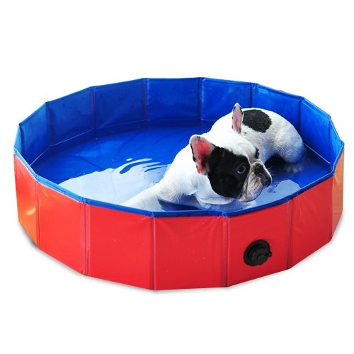Foldable Pet Bath Pool Collapsible Dog Pool Pet Bathing Tub Pool for Dogs Cats фото