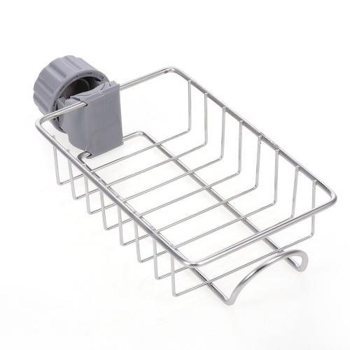 キッチン蛇口スポンジホルダーステンレススチール収納ラック