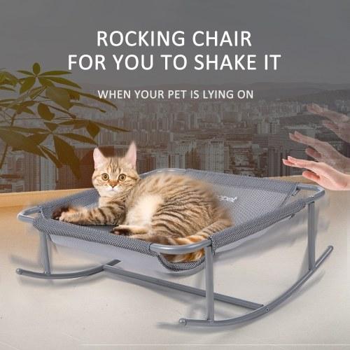 Малый Pet Кресло-качалка Кровать Полиэстер Дышащий Чистая Кровать Стальные Ноги Кровать-Качалка Окунь для Собак Кошек
