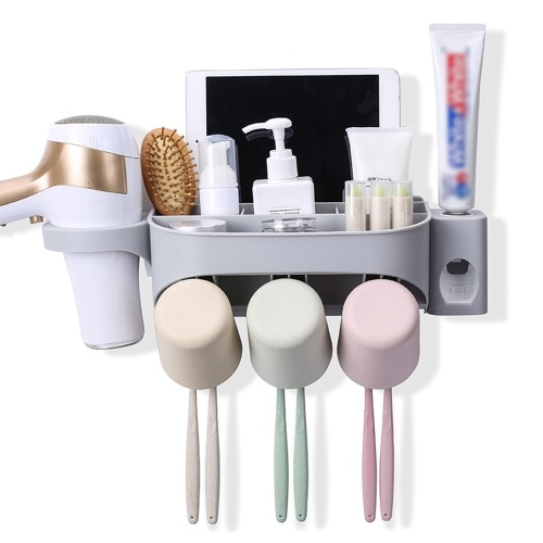Multi-functional Wall-mounted Toothbrush Holder
