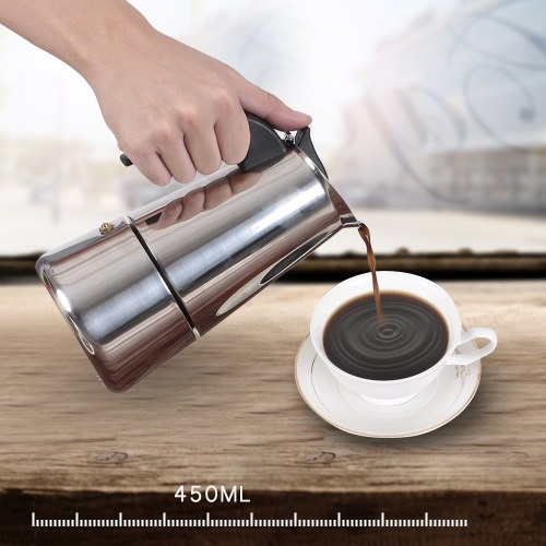 2 Cup 100mL Stainless Steel Espresso Stove Percolator Espresso Maker Pot Stove фото