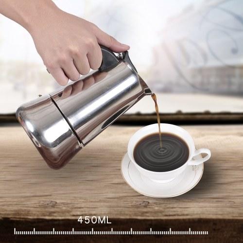 2 tazas de 100 ml de acero inoxidable Estufa de espresso Percolator Espresso Maker Pot Stoven