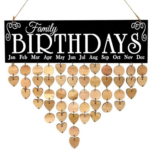 ポータブル繊細な木製の愛情のある心ウェーハワイヤーループ麻ロープカレンダー
