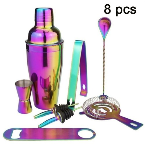 Delicate Wear Resistant Fall Resistant Multi-Color Stainless Steel Shaker 750ml 8 Parts