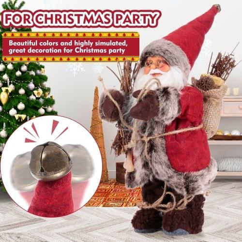 Christmas Stuffed Plush Toys Santa Claus Souvenir Dolls Figurine Xmas Party Eve Decor Christmas Present for kids