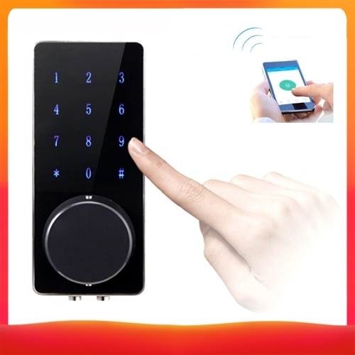 Fechadura da porta digital inteligente BT Keyless Touching Password APP Deadbolt Security Door Lock