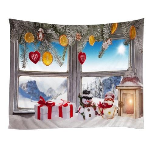 Рождественские гобелены гобелен гобелен искусства полиэстер Xmas камин гобелен скатерть фото