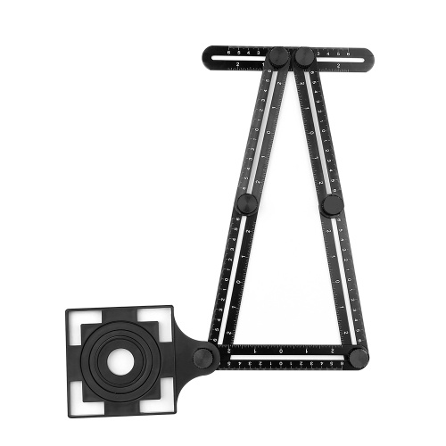 Regla universal Aleación de aluminio Herramienta de medición de múltiples ángulos Marca grabada con láser para constructores profesionales Ingeniero artesano