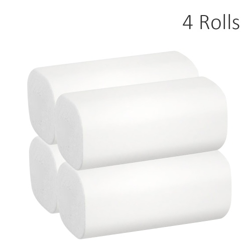 4 Rolls Tissues Roll Paper Towel Household Soft Toilet Paper Skin-friendly Wood Pulp for Home Bathroom Hotel Public Places