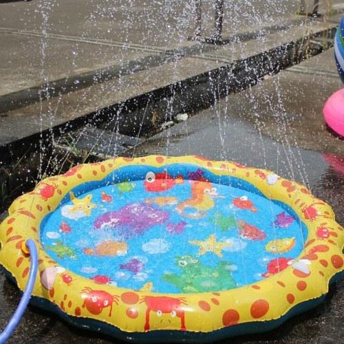 Cojín inflable de PVC Baby Kids Spray Water Game Pad Summer Garden Lawn Children Playmat Parent-Child Game Water Mat