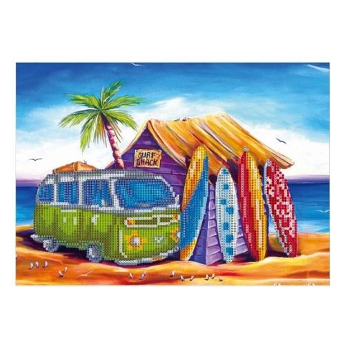 12 * 16 pulgadas / 30 * 40 cm DIY 5D Kit de pintura de diamantes Patrón de mar Resina Rhinestone Mosaico Bordado Punto de cruz Artesanía Decoración de la pared del hogar
