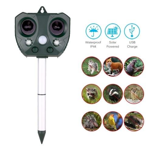 Solar Ultrasonic Repeller Waterproof Outdoor Pest Animal Expeller