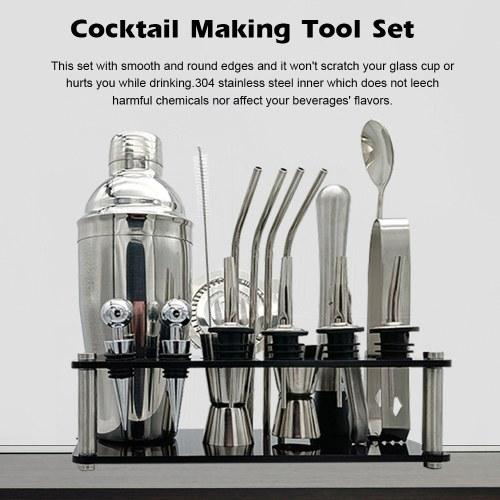 20pcs Cocktail Set Boston Shaker Mixer