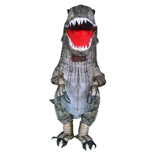 Traje engraçado de dinossauro inflável para festa de Halloween Trajes de cosplay