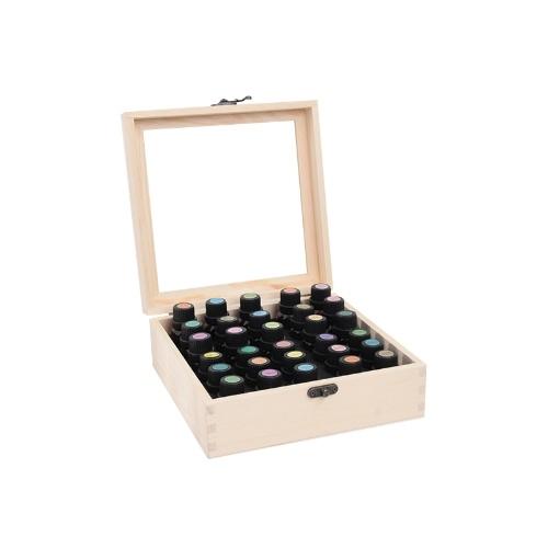 30 Slots Holz ätherische Öl Box Organizer hält