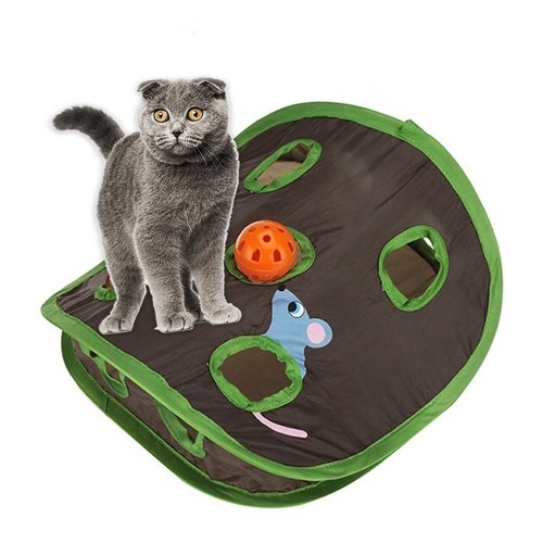 Hide and Seek Mouse Cat Toy 9 fori Interactive Pet Cat Teaser Trainning