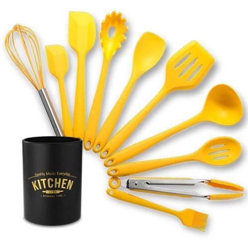 Conjunto de utensílios de cozinha de silicone Conjunto de utensílios de cozinha de 10 unidades