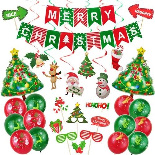 Set di decorazioni di palloncini di Natale