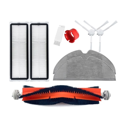 1 Pair Side Brushes + 1Pc Main Brush + 1 Pair HEPA Filters + 1Pc Cylinder Comb + 2Pcs Mop Cloths + 1Pc White Brush Replacement for Xiaomi 1C Vacuum Cleaner