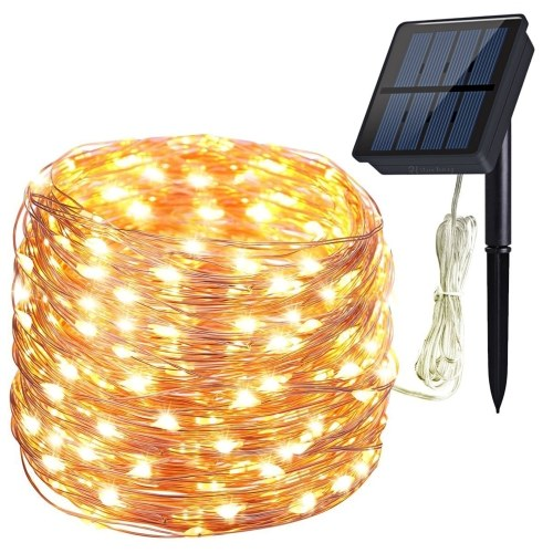 Luces solares de cadena de 200 LED