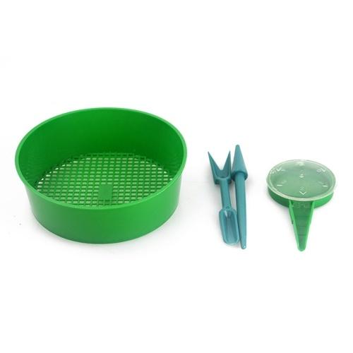 Dispensador de semillas de conjunto de herramientas de siembra de 3 piezas