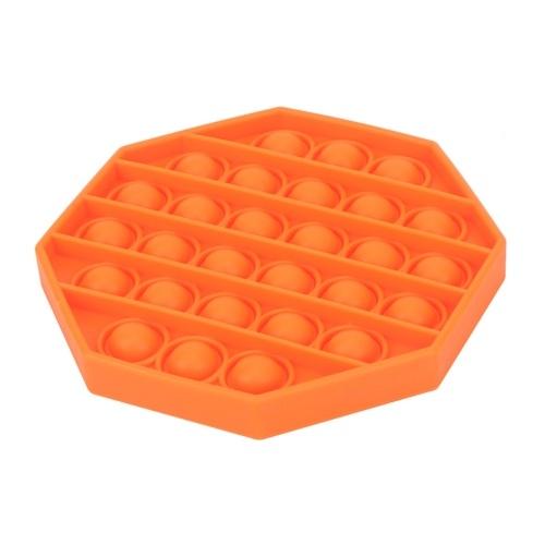 Pop Bubble Fidget Sensory Toy (Octagon,Orange)